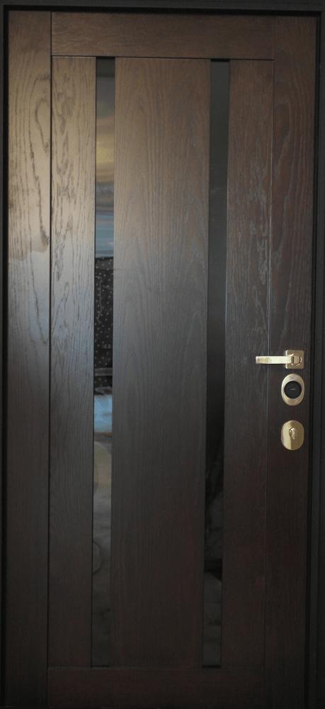 стальные двери со вставкой из шпона
